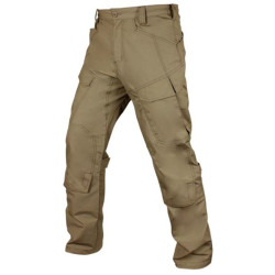 Condor Outdoor 101077 Tac-Ops Pant with Split Cargo Pocket and Elastic Waistband, Polyester/Cotton, available in Black, Tan, and Stone