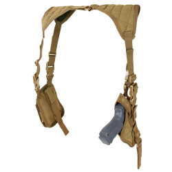 Condor ASH Tactical Vertical Shoulder Holster, available in Black, Olive Drab and Coyote Brown