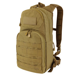 Condor 165 Tactical Fuel Hydration Pack, Hide-away padded backpack straps, Detachable shoulder strap, available in Black, Slate, Olive Drab and Coyote Brown