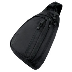 Condor 111100 Tactical Sector Sling Bag, Adjustable and removable waist belt, Conceal Carry compartment, Para-cord pull cords, available in Black or Slate