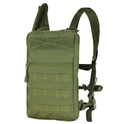 Condor 111030 Tidepool Tactical Hydration Carrier, Removable shoulder straps with sternum strap, Exterior pocket with zipper closures, Loop panel for morale or identification patches, available in Black, Olive Drab and Coyote Brown