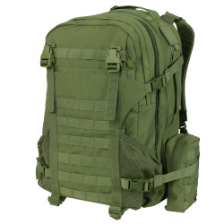 Condor 111054 Orion Assault Tactical Pack, Detachable rain cover, Removable waist belt, Tactical Hydration Pocket, Two detachable accessory pouches, available in Black, Olive Drab and Coyote Brown