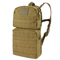 Condor HCB2 Tactical Hydration Carrier 2, Removable shoulder straps, Sternum strap, available in Black, Olive Drab, and Coyote Brown