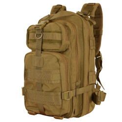 Condor 126 Compact Assault Tactical Pack, Padded shoulder straps, Sternum strap, Adjustable waist belt, Tactical Hydration Pocket, available in Black, Olive Drab, and Coyote Brown