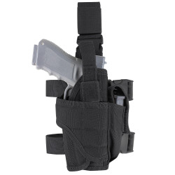 Condor TTLH Tornado Tactical Leg Holster, Retention system with additional hook and loop adjustable strap to secure weapon, available in Black, Olive Drab and Coyote Brown