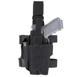Condor 171170 Tornado Tactical Leg Holster, Left Hand, Retention system with additional hook and loop adjustable strap to secure weapon, available in Black, Olive Drab and Coyote Brown