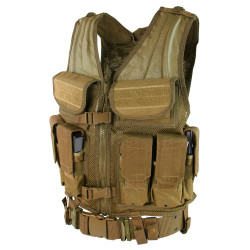 Condor ETV Elite Tactical Vest, includes Pistol Belt, Two Small Utility Pouches, available in Black, Olive Drab, and Coyote Brown