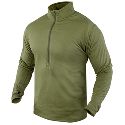 Condor Outdoor 603 Base II Zip Lightweight Pullover, Polyester/Spandex, available in Black, Olive Drab, Tan, and Sand