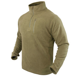 Condor Outdoor 607 Quarter Zip Fleece Pullover with Chest Pocket, Slim Fit, available in Black, Olive Drab, and Tan