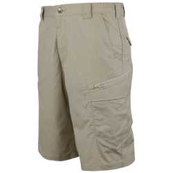 Condor Outdoor 101087 Scout Tactical Shorts with Cargo Pockets, Polyester/Cotton, Elastic Waistband, 11 inch Inseam, available in Black and Khaki