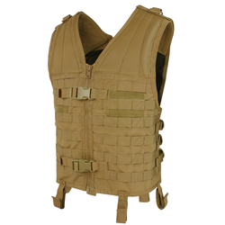 Condor Outdoor MV Modular Vest, Quick Release Buckles, available in Black, Olive Drab, and Coyote Brown