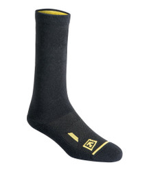 First Tactical 160001 Cotton 6 inch Comfortable and Breathable Duty Sock 3-Pack, 62% cotton, 5% nylon, 28% spandex, 5% rubber, Black