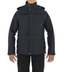 First Tactical 128500 Womens Tactix System Waterproof Parka Jacket, 100% Nylon, Breathable, Adjustable Cuffs, Regular Length, available in Black and Midnight Navy