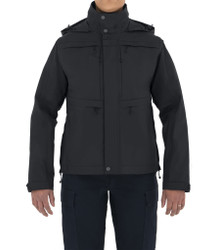First Tactical 128502 Womens Tactix System Waterproof Jacket, 100% Nylon, Breathable, Adjustable Cuffs, Regular Length, available in Black