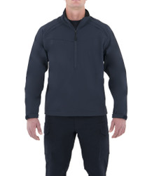 First Tactical 118508 Mens Softshell Job Shirt Pullover, Nylon/Spandex, Adjustable Cuffs, Sternum Mic Loop, available in Black and Midnight Navy