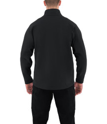 First Tactical 118507 Mens Cotton Job Shirt Quarter Zip Pullover, Polyester/Cotton, Sternum Mic Loop, available in Black and Midnight Navy