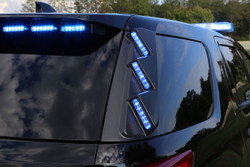Whelen Outer Edge® Rear Pillar FPIU 2020 Ford Police Interceptor Utility (Explorer) SUV RPLS50 Exterior Vertical Mount Light Bar, SOLO ION™ Super-LED, optional WeCan RPWS50