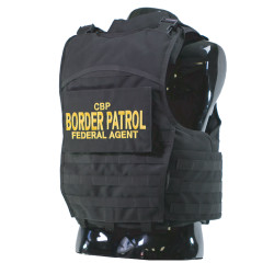 Armor Express Men's DHS TOGC Overt Non-Ballistic Body Armor Carrier with Concealeable drag handle located on rear of carrier, Choose Carrier Only or Carrier and Plates, NIJ Certified Spike - Level 1, Level 2, Or Level 3, Threat Level