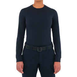 First Tactical 121505 Womens Tactix Series Cotton Long Sleeve T-Shirt, Uniform or Casual, Midnight Navy
