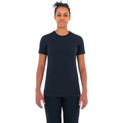 First Tactical 122501 Womens Tactix Series Cotton Short Sleeve T-Shirt, Uniform or Casual, Midnight Navy