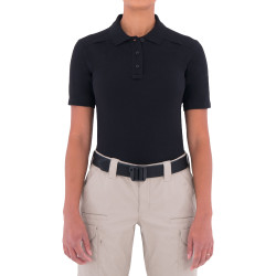 First Tactical 122508 Womens Cotton Short Sleeve Polo, Uniform or Casual, Sternum Mic Loop, Shoulder Mic Loop