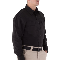 First Tactical 111006 Mens V2 Tactical Long Sleeve Button-Down Shirt, Uniform or Casual, 2 Chest Pockets, available in Regular or Tall Fit