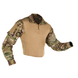 First Tactical 111004MC Mens Defender Long Sleeve Shirt, 1/4 Zip, Uniform, Elbow pad pockets, MultiCam