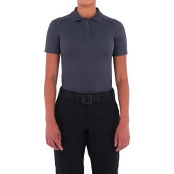 First Tactical 122509 Womens Performance Short Sleeve Polo, Uniform or Casual, Sternum Mic Loop