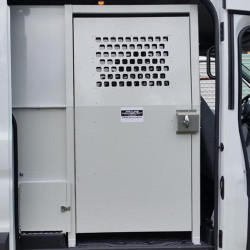 American Aluminum GMC Savannah Van Inmate Transport Modular System, Extended Length, with Compartment Options