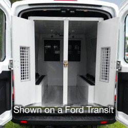 American Aluminum Dodge Promaster Van Inmate Transport Modular System, Extended Length, with Compartment Options