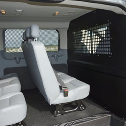 American Aluminum Chevy Express Van Inmate Transport Kit, includes Window Screen Systems, Door Panels, Front Partition, Mounting Hardware