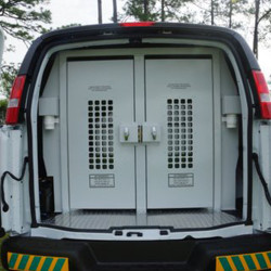 American Aluminum Chevy Express Van Inmate Transport Modular System, Standard Length, with Compartment Options
