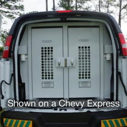 American Aluminum Ford Transit Van Inmate Transport Modular System, 3 Compartment, Standard Length, Mid Roof