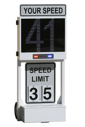 Decatur Electronics OnSite OS-200MX Radar Speed Sign Dolly with Matrix Messaging