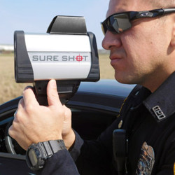 MPH Sure-Shot  LIDAR Hand-held Laser Gun, Standard Package  includes 12 Volt DC charging cord, 8 AA rechargeable batteries, battery charger and manual