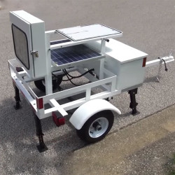 MPH StreetScout 12 inch Radar Speed Display Trailer, 6ft tall, optional Solar Power, Lightweight, Compact, Foldable, Ergonomic Design