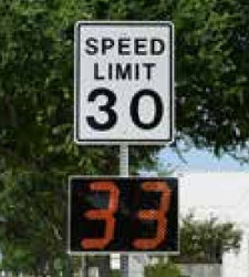 Stalker Pole Mounted Radar Speed Sign, available in 12, 15, and 18-inch digit height models, includes Bluetooth, choose AC or Solar and Battery Powered