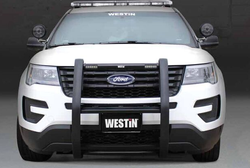 Westin Push Bar Elite, Ford Police Interceptor Utility 2012-2019, Brush Guard, with Optional LED Warning Lights, Optional Pit Bar and Wing Wraps