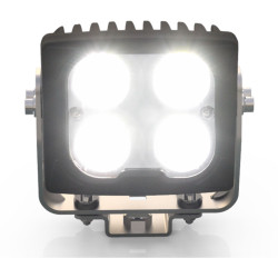 Code 3 CW4020 5.7 Inch Heated Lens LED Worklight, Flood Beam, Weather Resistant, with built-in vent to prevent fogging, Aluminum housing, Heavy-duty mount with 180degree angle