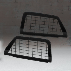 Westin 35-16025 2nd Row Side Glass Window Guards for 2015-2020 Chevrolet Tahoe PPV, Constructed with high strength steel, Black powder coat finish
