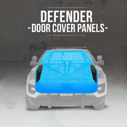Westin 35-15035 Defender Door Cover Panels for 2018-2020 Ford F-150 Responder PPV, easy installation