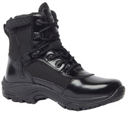 Tactical Research by Belleville TR906Z Class A 6 inch Men's Hot Weather High Shine Side Zip Boots, Uniform/Casual, Slip and Oil Resistant, Regular or Wide Width, Black