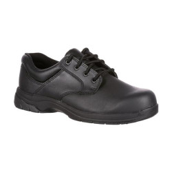 Rocky SlipStop 911 FQ0002034 Men's Uniform Plain Toe Oxford Shoe, Oil and Slip Resistant, available in Extra Wide, Regular or Wide Width, Black