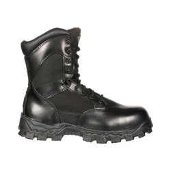 Rocky Alpha Force FQ0002173 Men's 8 Inch Uniform Zipper Waterproof Public Service Boots, Oil and Slip Resistant, available in Regular or Wide Width, Black