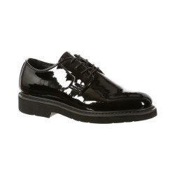 Rocky FQ00510-8 Men's High-Gloss Dress Leather Uniform Oxford Shoe, available in Extra Wide, Regular or Wide Width, Black