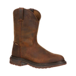 Rocky FQ0001108 Men's 10 Inch Original Ride Roper Casual Western Boots, available in Regular or Wide Width, Brown