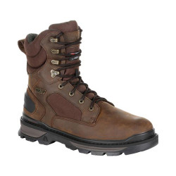 Rocky RAMS HORN RKS0415 Men's 8 Inch 600G Insulated Waterproof Outdoor Casual Boots, available in Regular or Wide Width, Brown