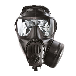 Avon Protection FM53 Single Port Assembly, Single Mask (APR) Air Purifying Respirator, Scratch Resistant, Communication Port for Integrated Voice Projection, Filter not Included.