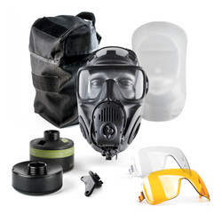 Avon Protection FM53 Single Port Specialist Responder Kit, Single Mask (APR) Air Purifying Respirator, Scratch Resistant, Communication Port for Integrated Voice Projection