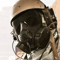 Avon Protection FM50 (APR) Air Purifying Respirator 71400, CBRN full face mask, specifically designed to meet the latest NATO forces and military mask requirements